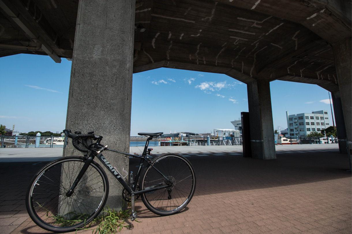 自転車通勤の空
