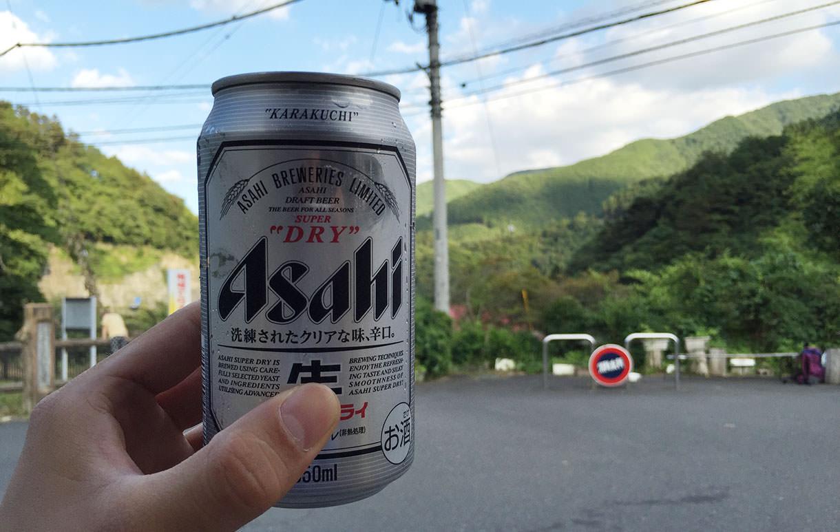 登山のあとのビール