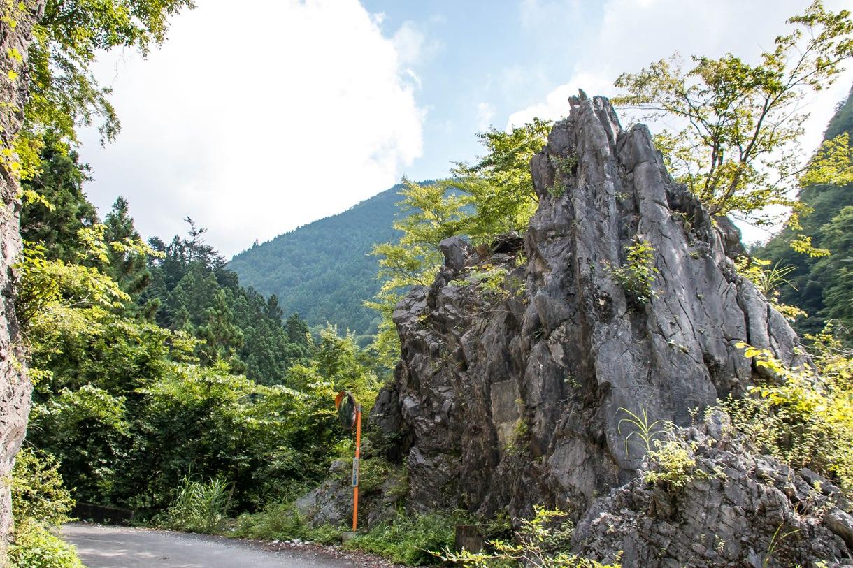 川苔山の岩