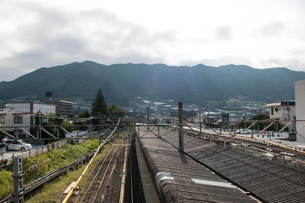 JR塩山駅からの景色