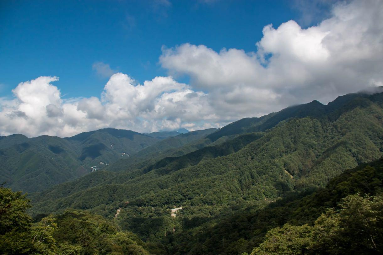 上日川峠前からの眺望