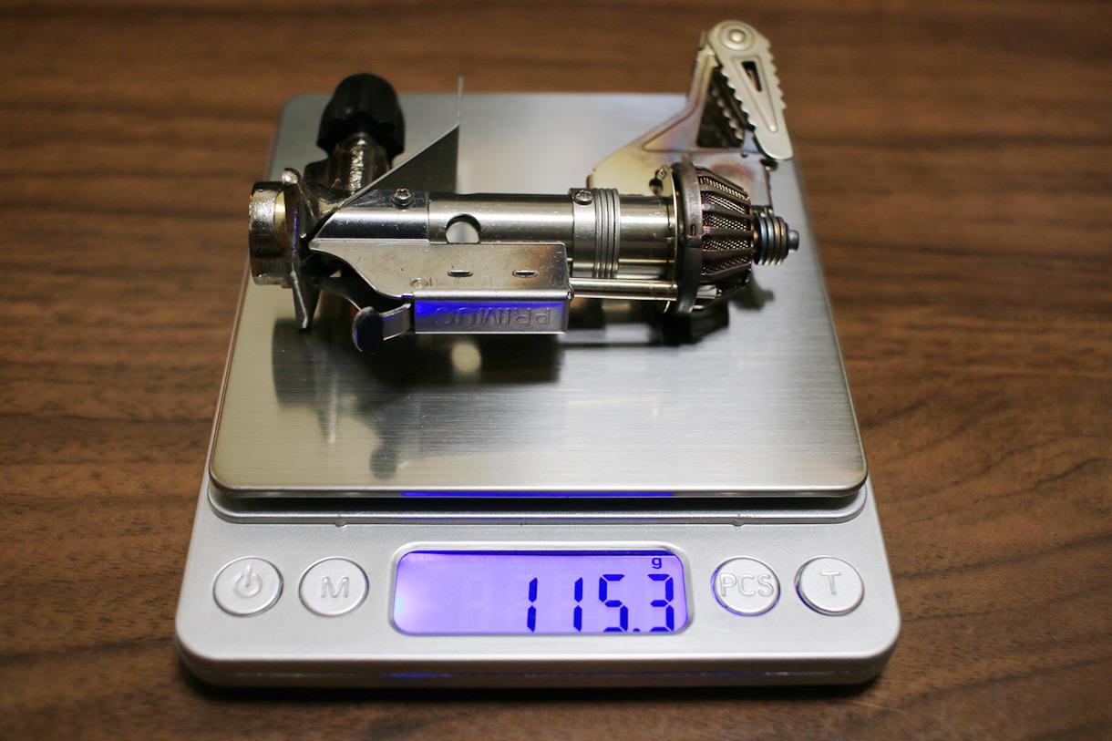 プリムスバーナーP-153の重さ