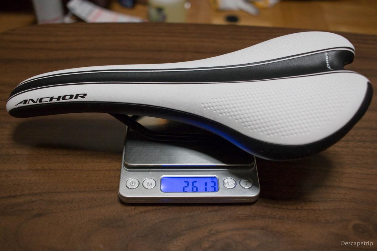 ANCHOR完成車のサドルの重さ