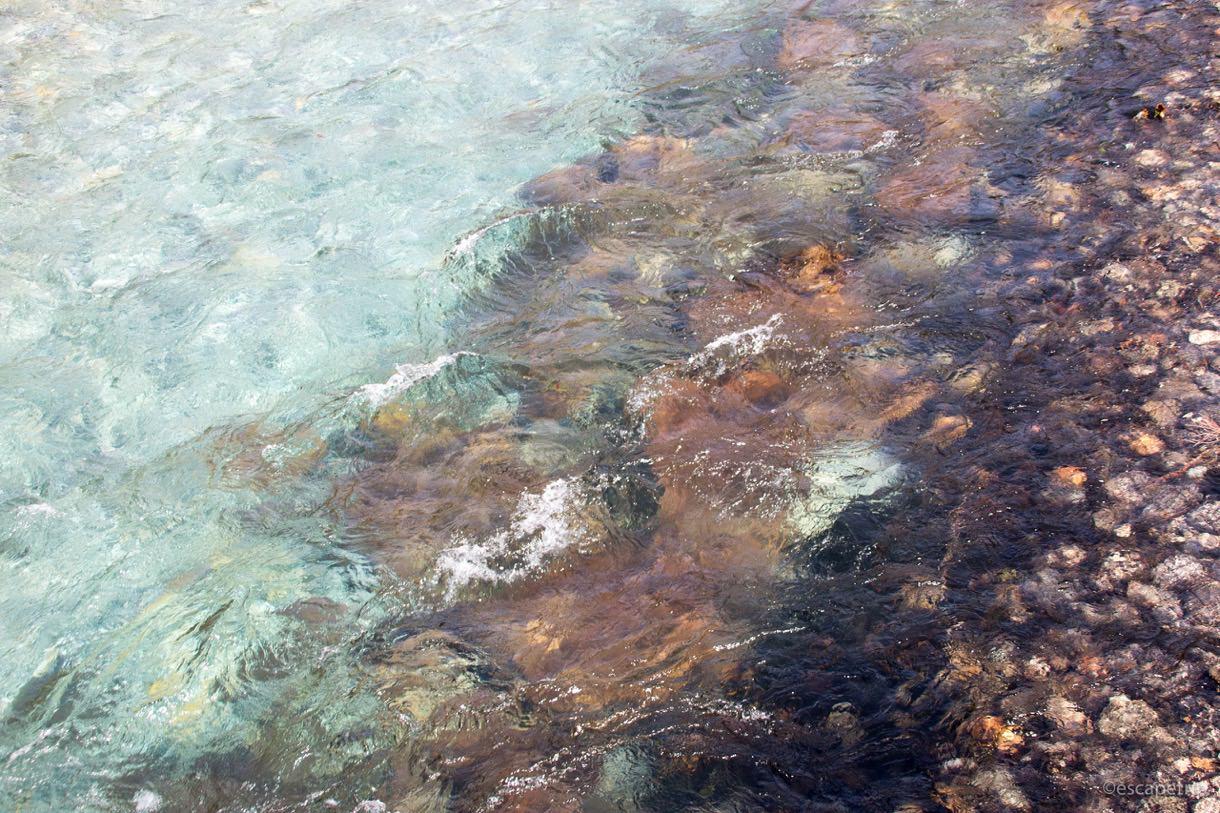 梓川の水の透明度