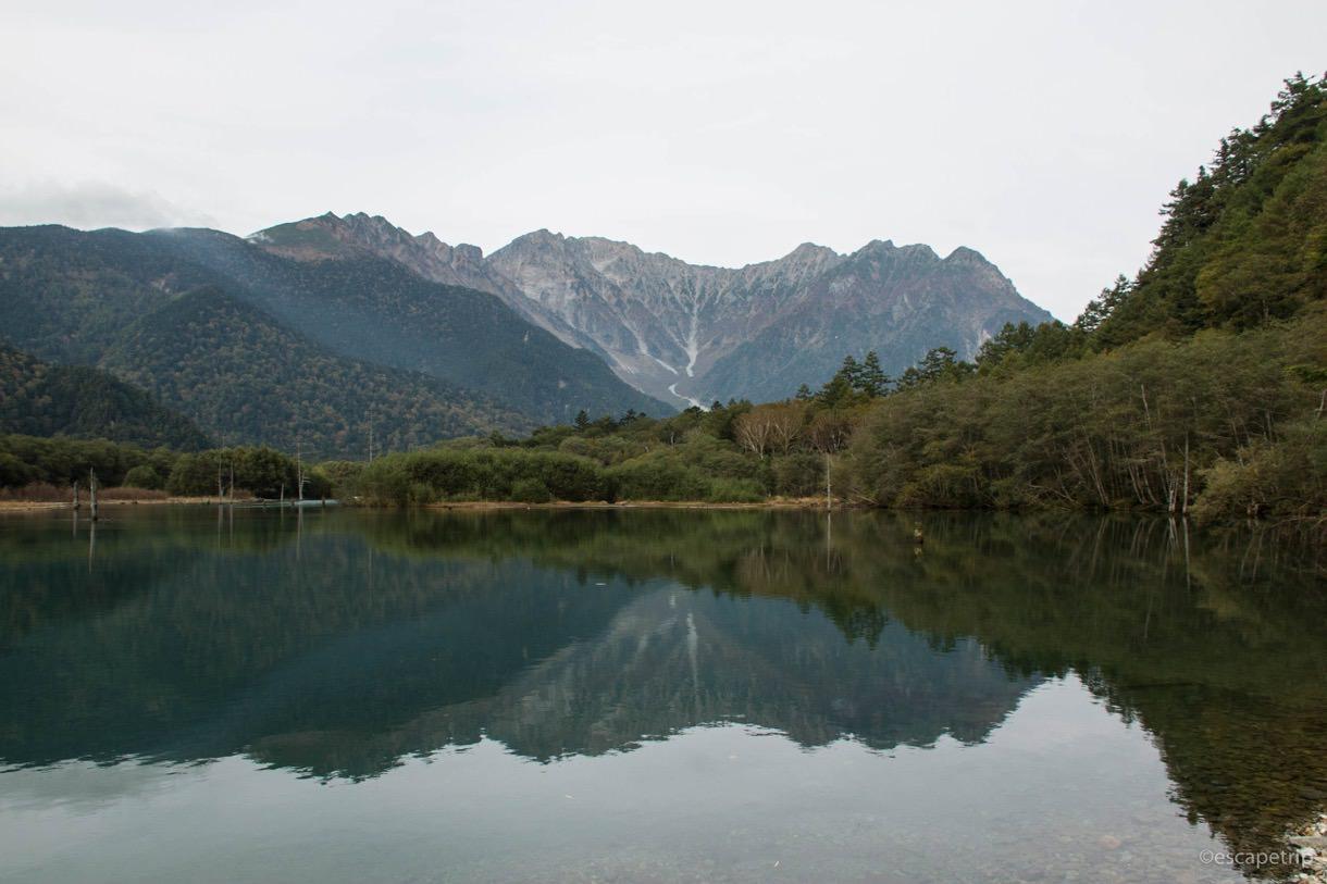 大正池の定番アングル