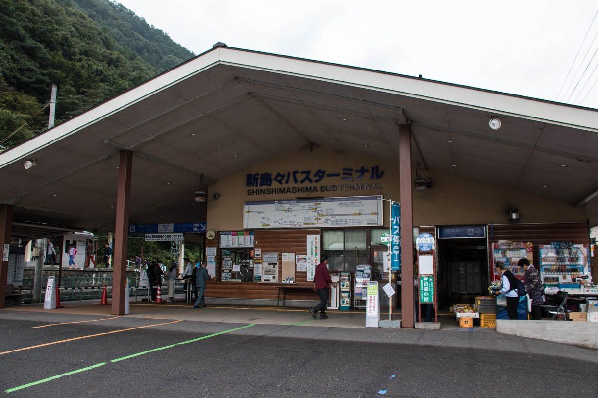 新島々駅のバス停