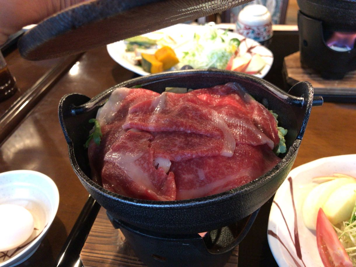 飛騨牛のすき焼き