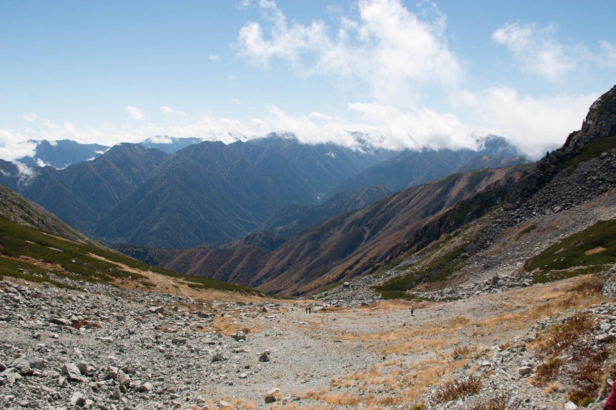 一の超山荘付近から見える山々