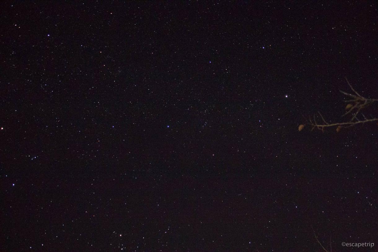 立雲峡から見る星空