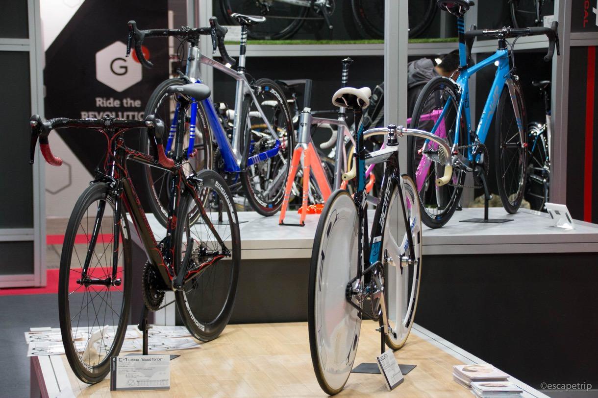 展示された自転車の数々