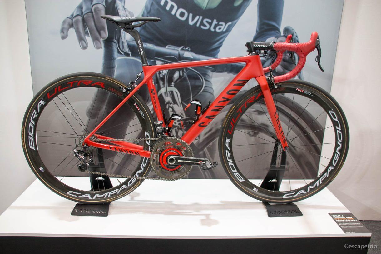 サイクルモードに展示されたCANYONのロードバイク