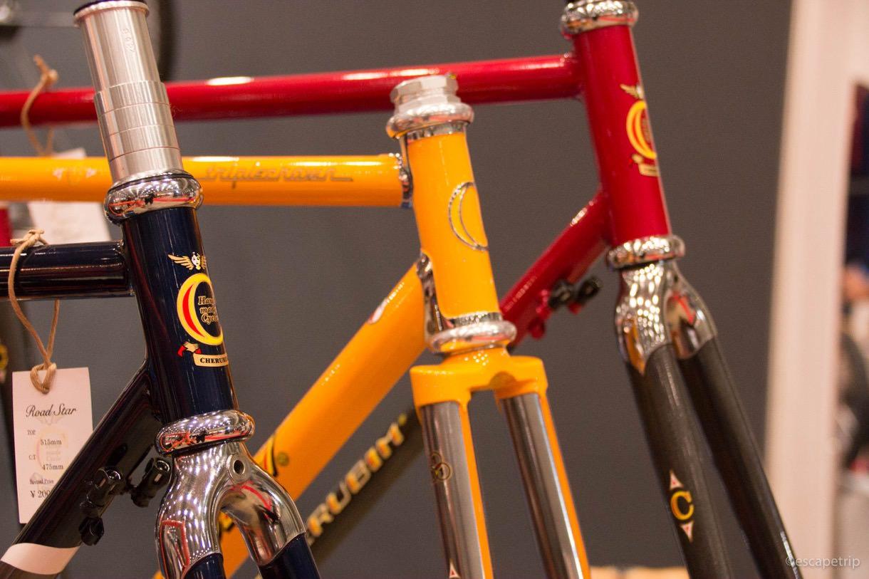 サイクルモードにてヴィンテージバイクの展示