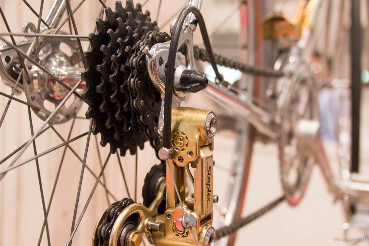 ヴィンテージバイクのギア