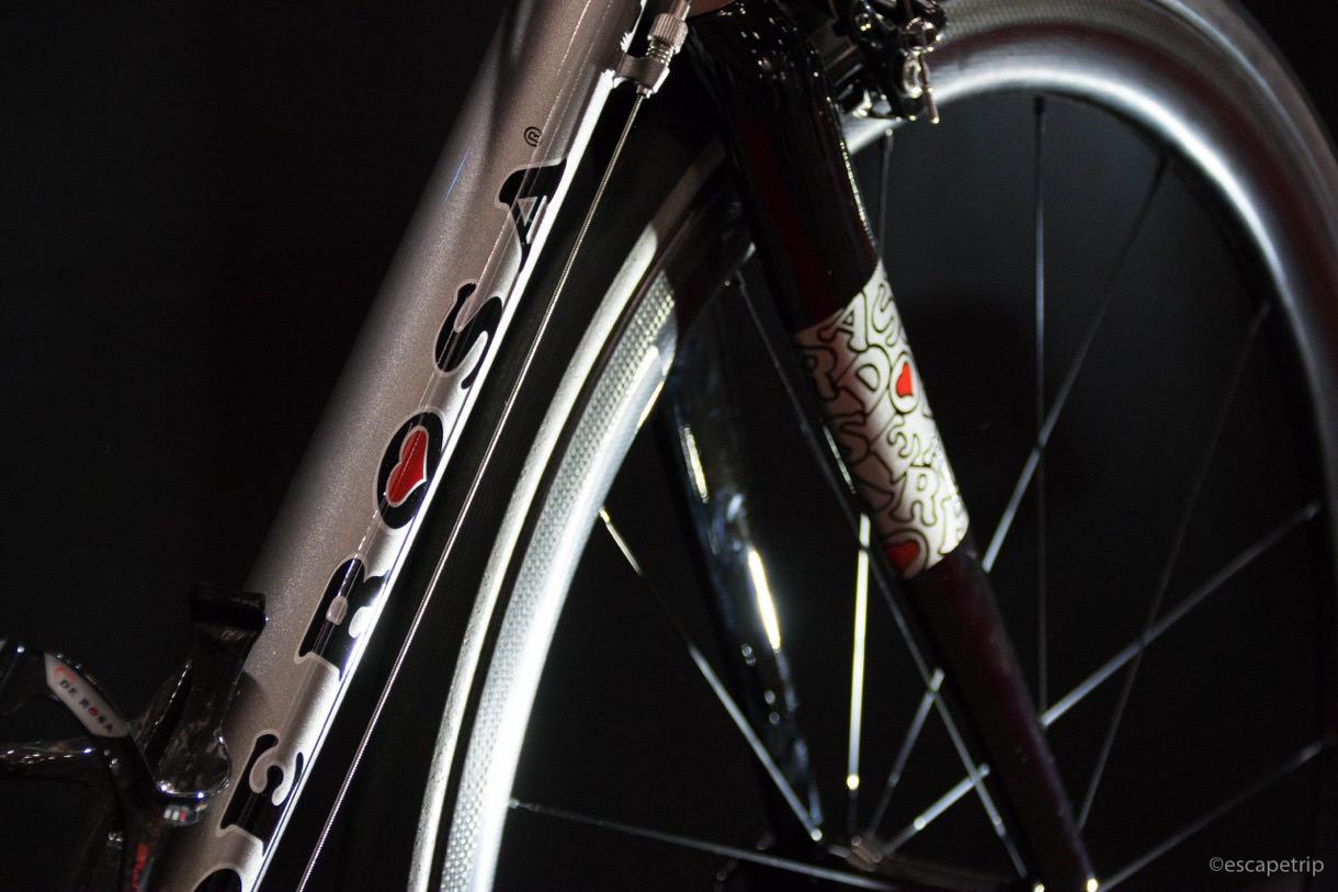 サイクルモードに展示されたDE ROSAのロードバイク