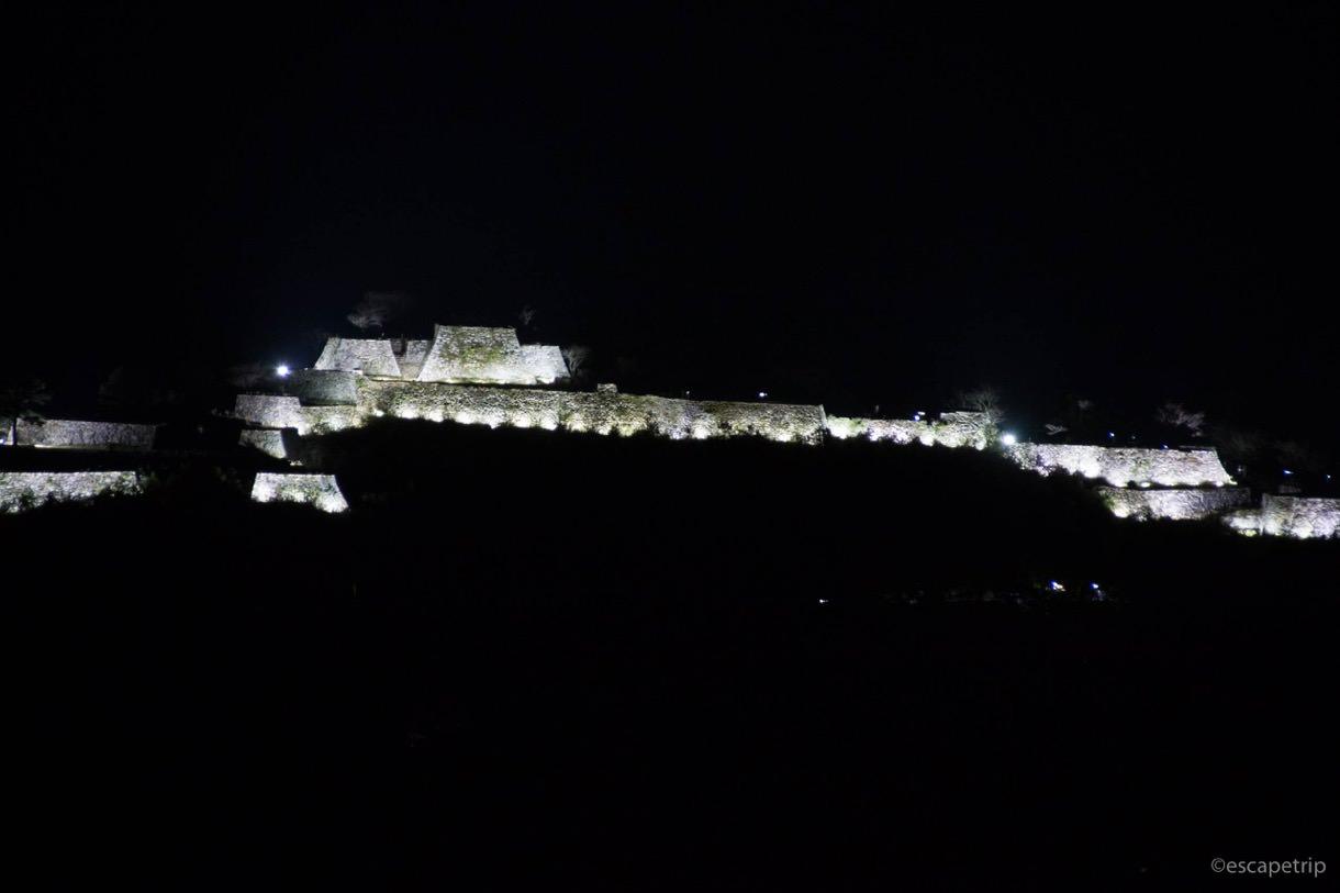 竹田城のライトアップ