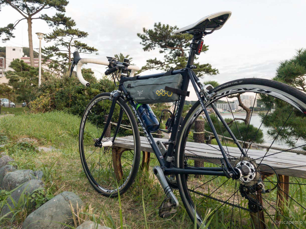 ArioneR1装着後のロードバイク