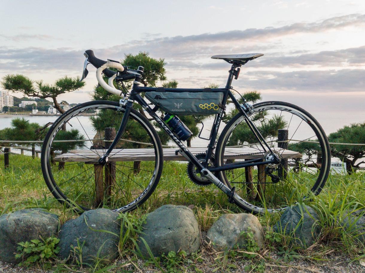 ArioneR1を装着したロードバイクの全体像