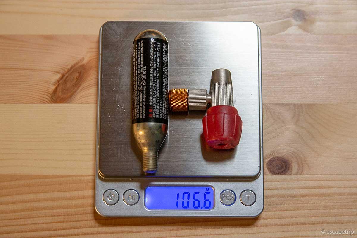 CO2ボンベの重さ