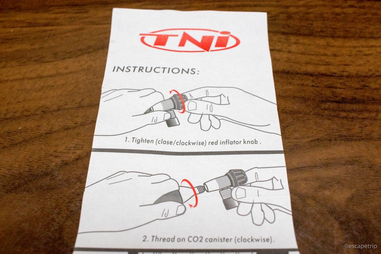 CO2ボンベの説明書