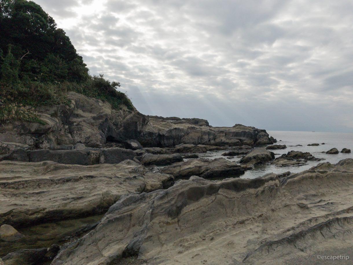 海岸が険しい城ヶ島