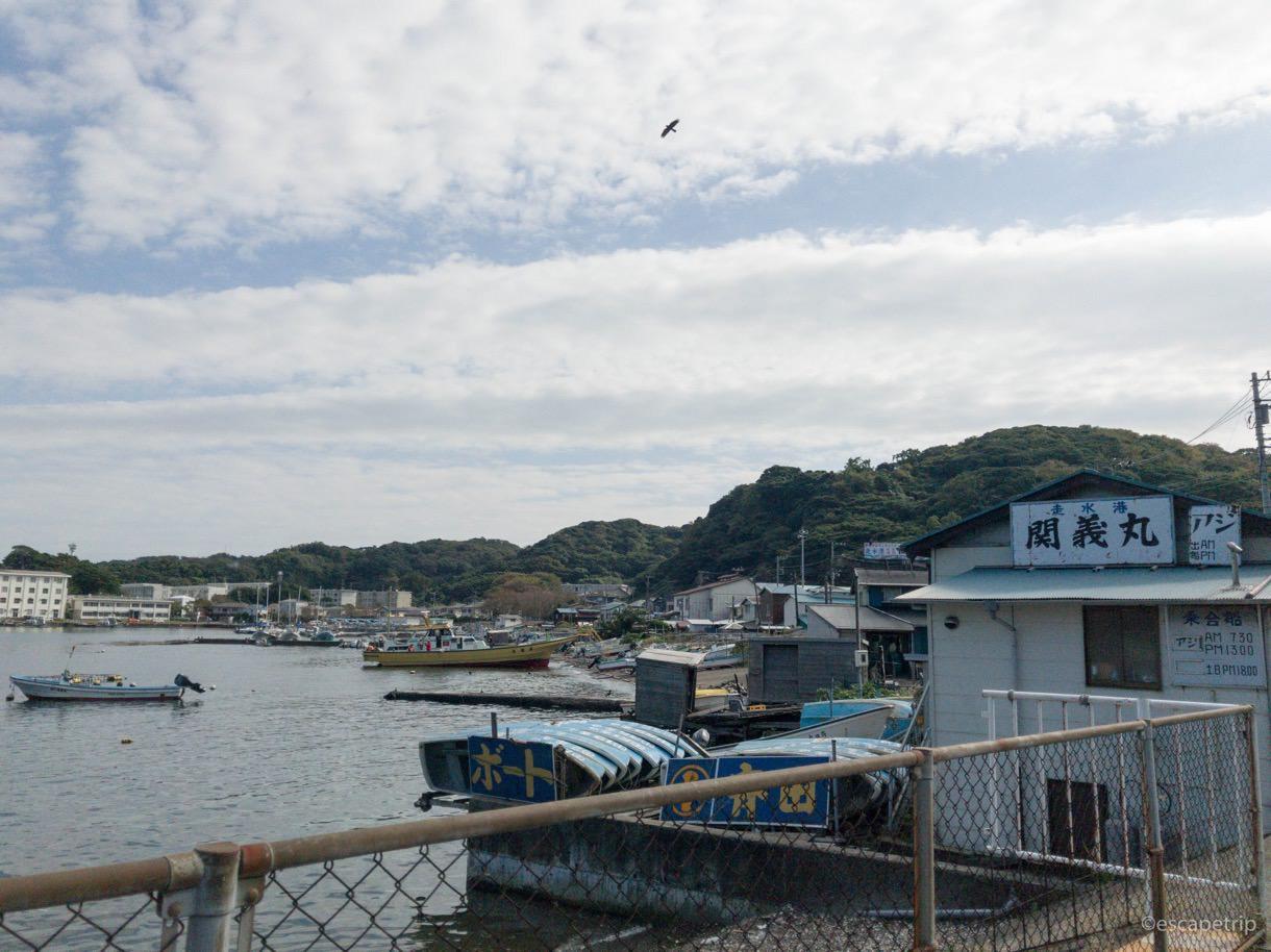 三浦半島に点在する漁村