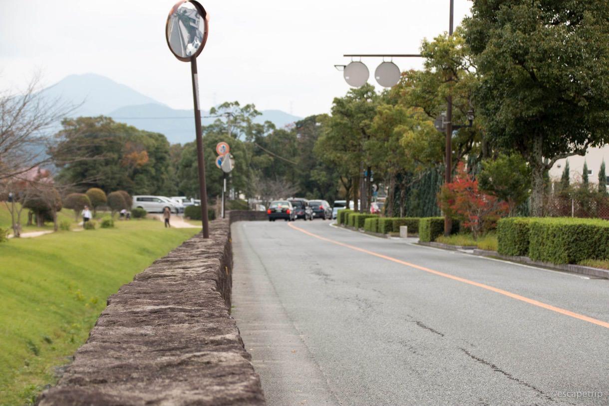 太宰府天満宮の近くの道路