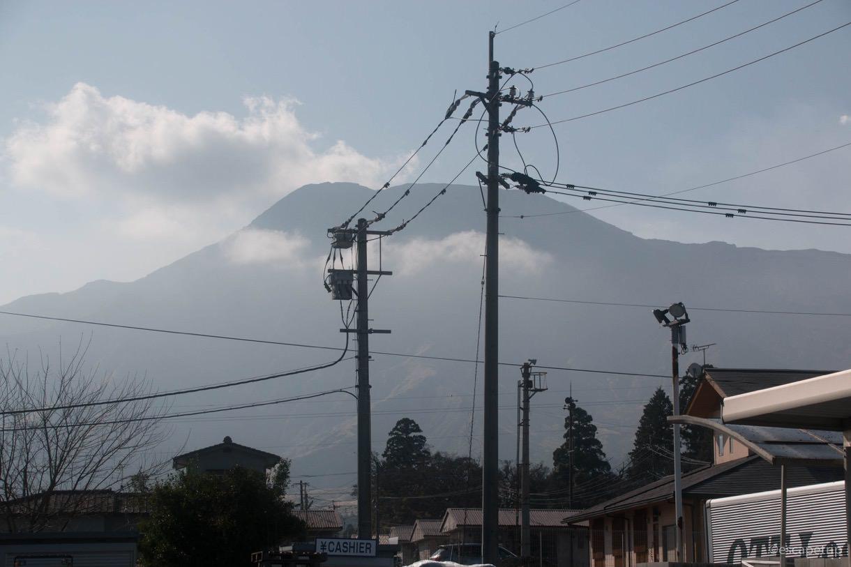 阿蘇神社の横参道の延長線上にある阿蘇山
