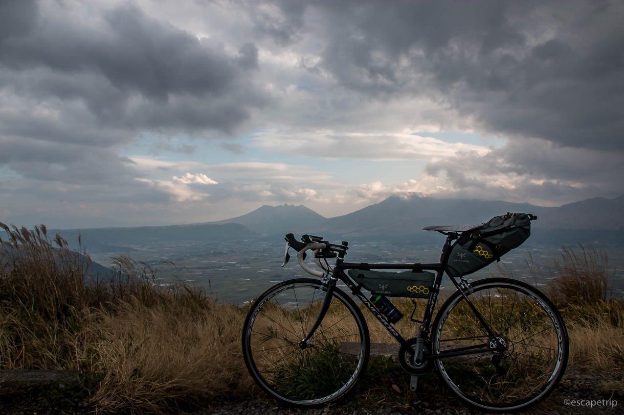 ロードバイクで大観峰に登頂