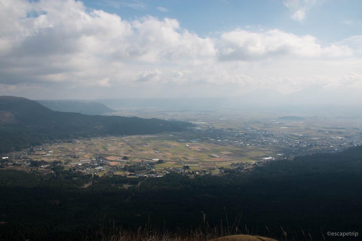 西湯浦園地展望所からの景色