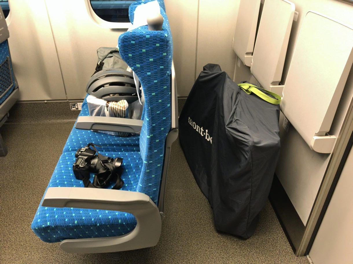 新幹線でロードバイク輪行