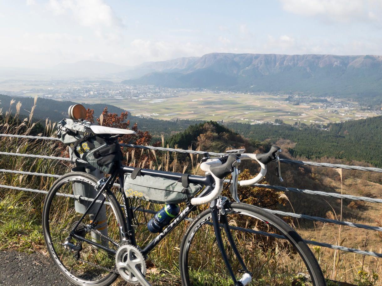 大観峰と自転車
