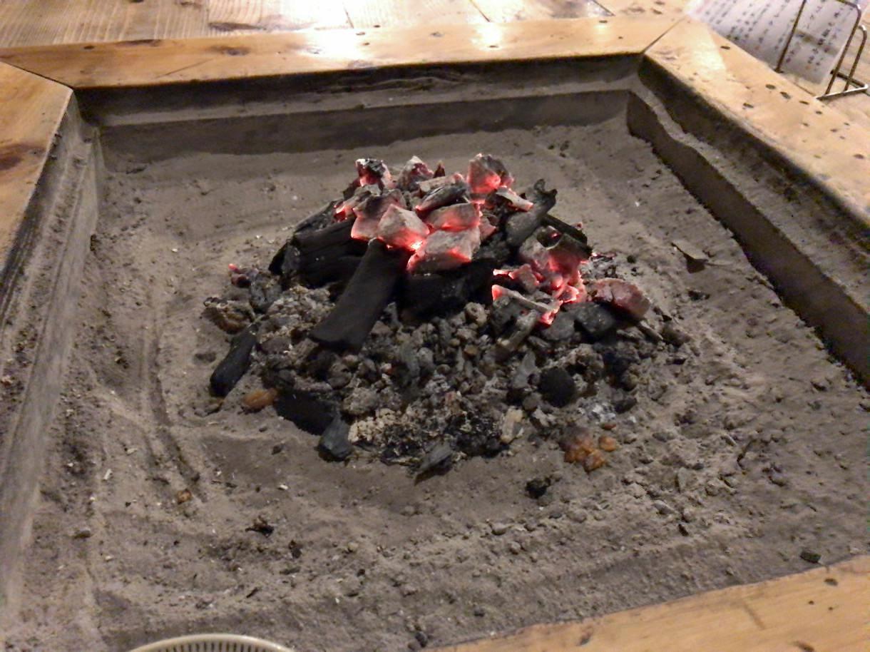 高森田楽の里の囲炉裏