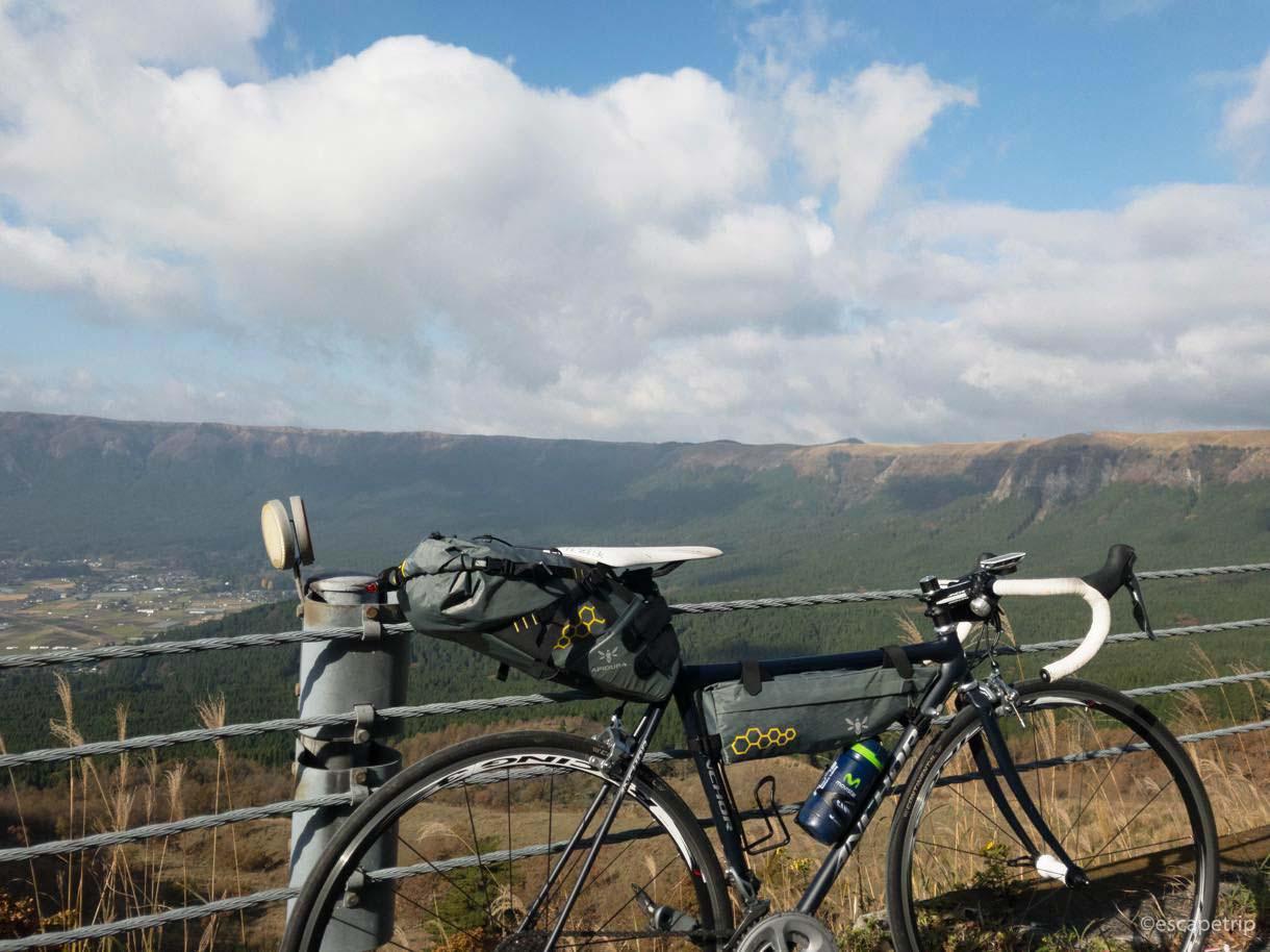 自転車のバイクパッキング例