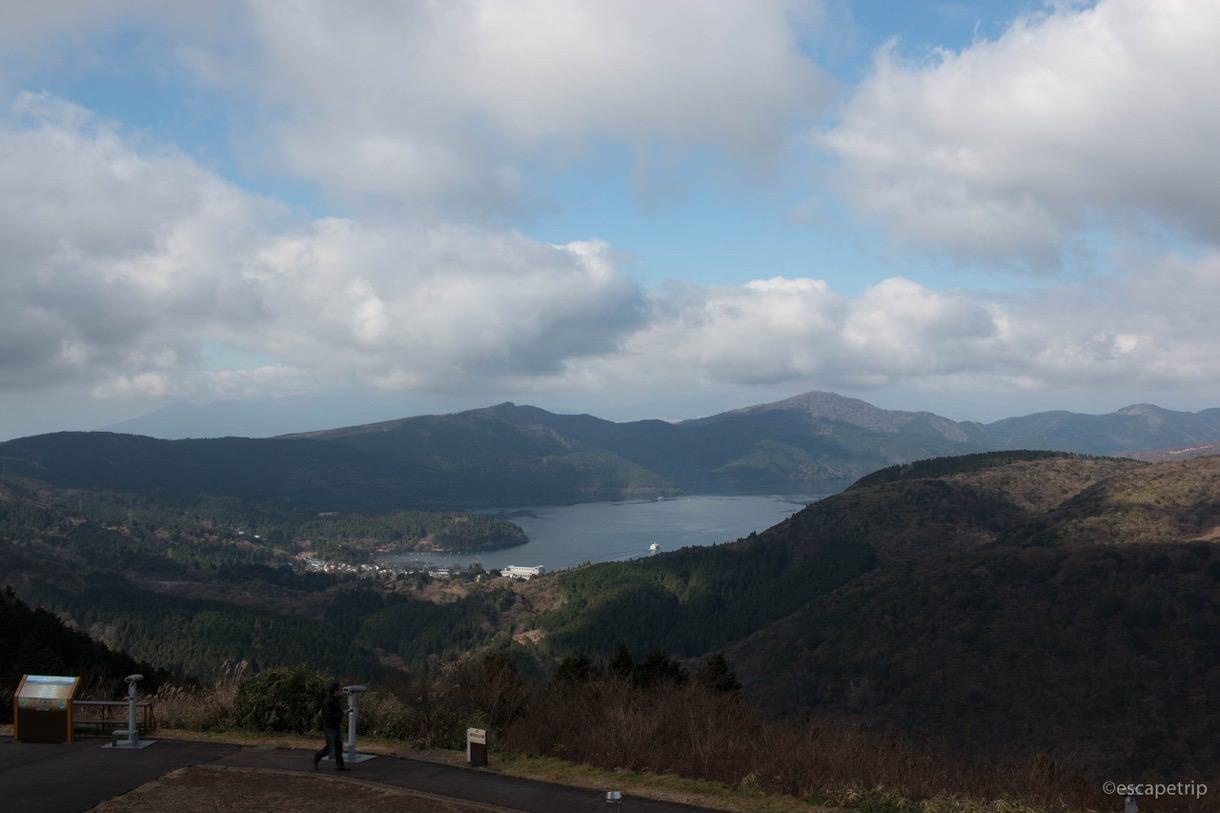 大観山から見る芦ノ湖