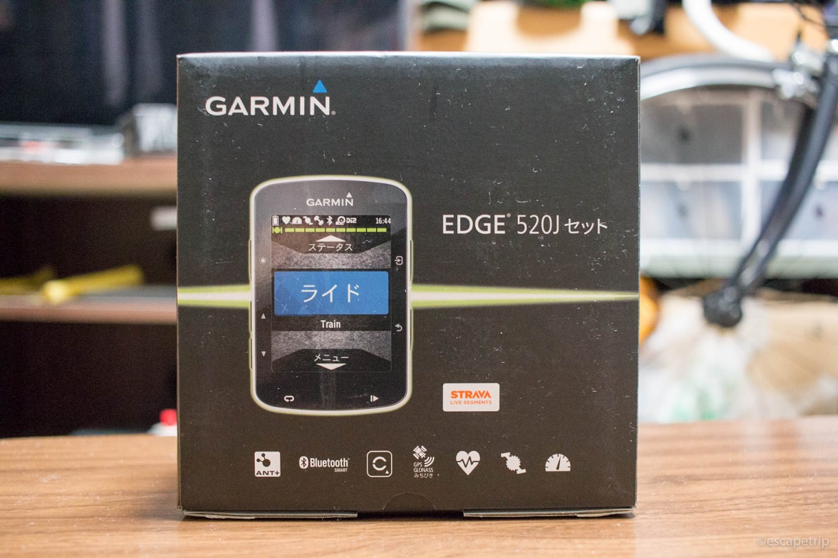 ガーミンedge520Jの外箱