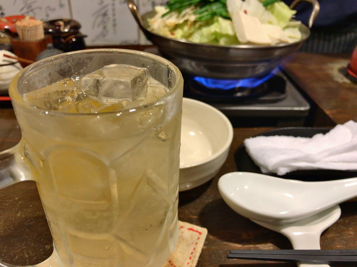 元祖博多麺もつ屋のハイボール