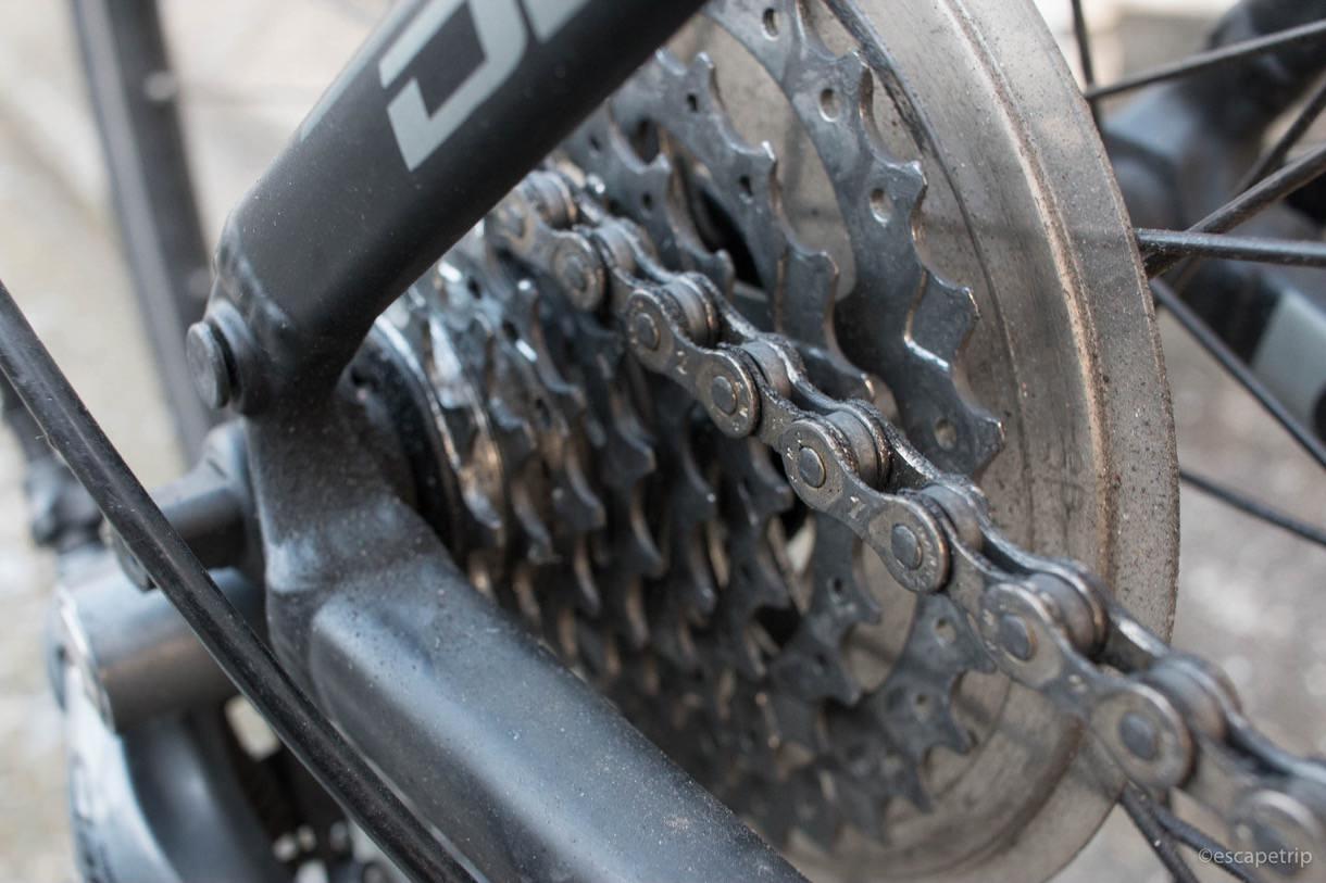 ロードバイクのギア汚いとき
