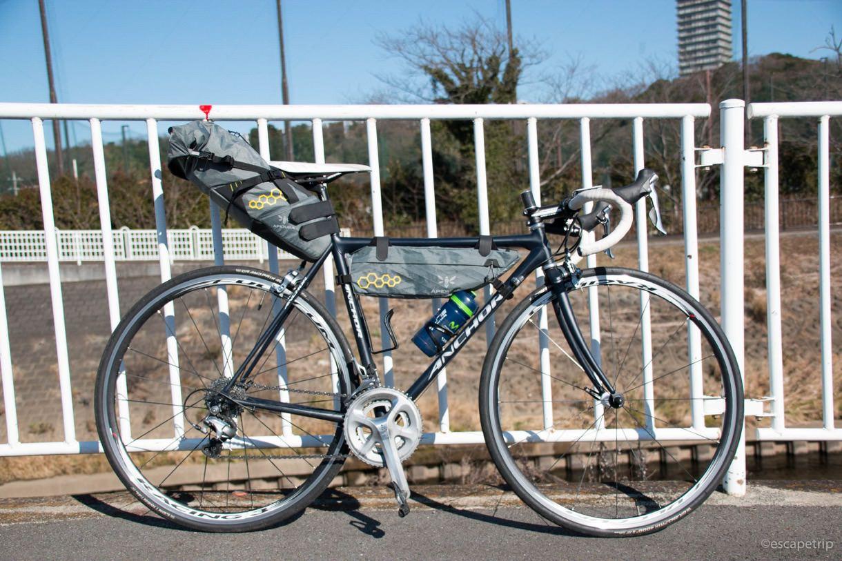 ロードバイクとバイクパッキング