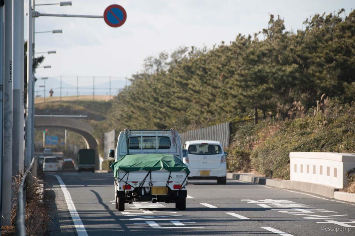 江ノ島から西へ国道134号線で