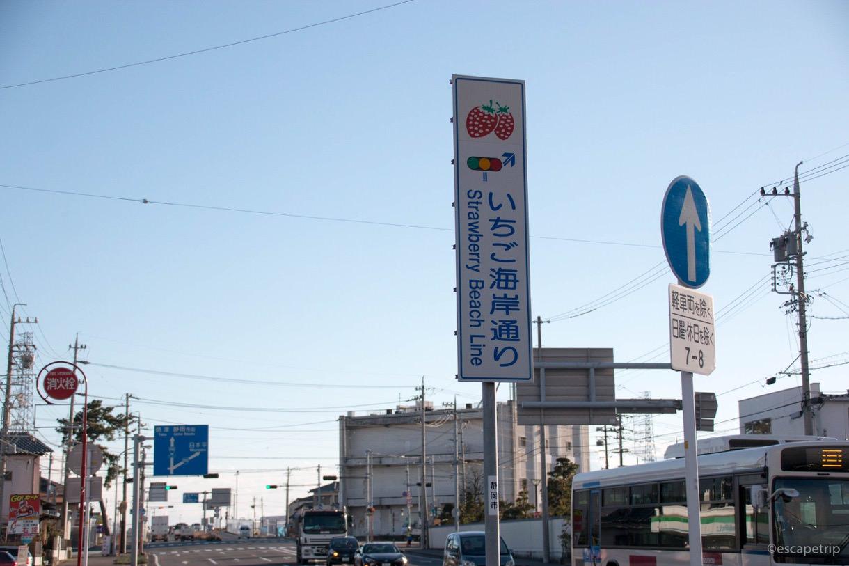 静岡のいちご海岸通り
