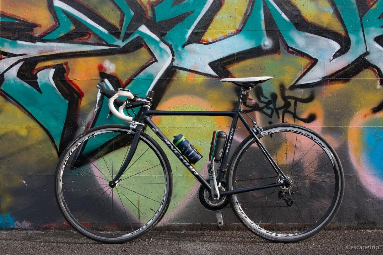 本日の自転車と装備