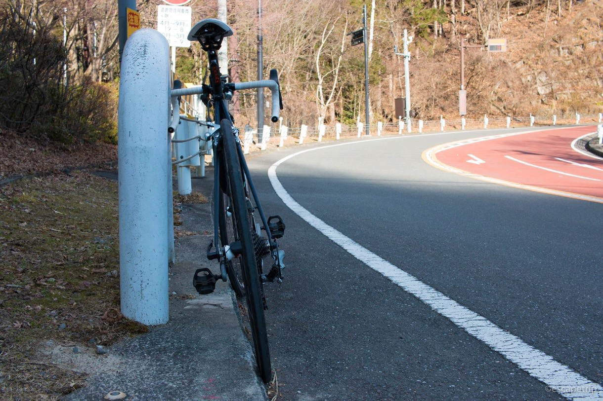 冬のロードバイク