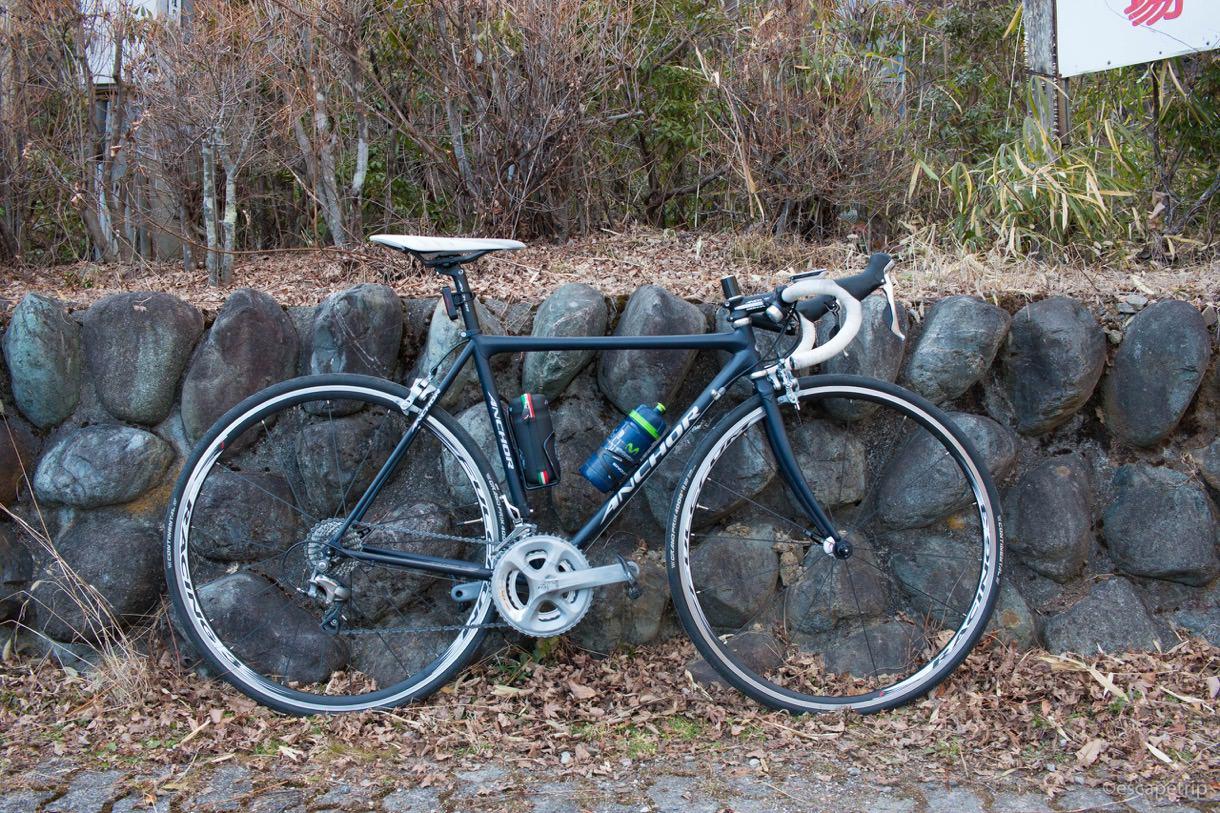 落ち葉とロードバイク