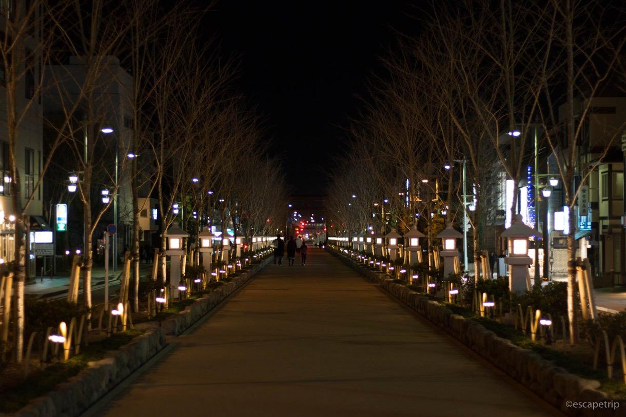 鶴岡八幡宮までの経路