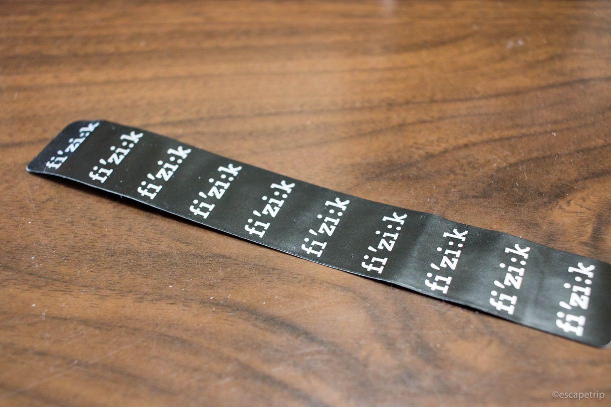フィジークのフィニッシュテープ