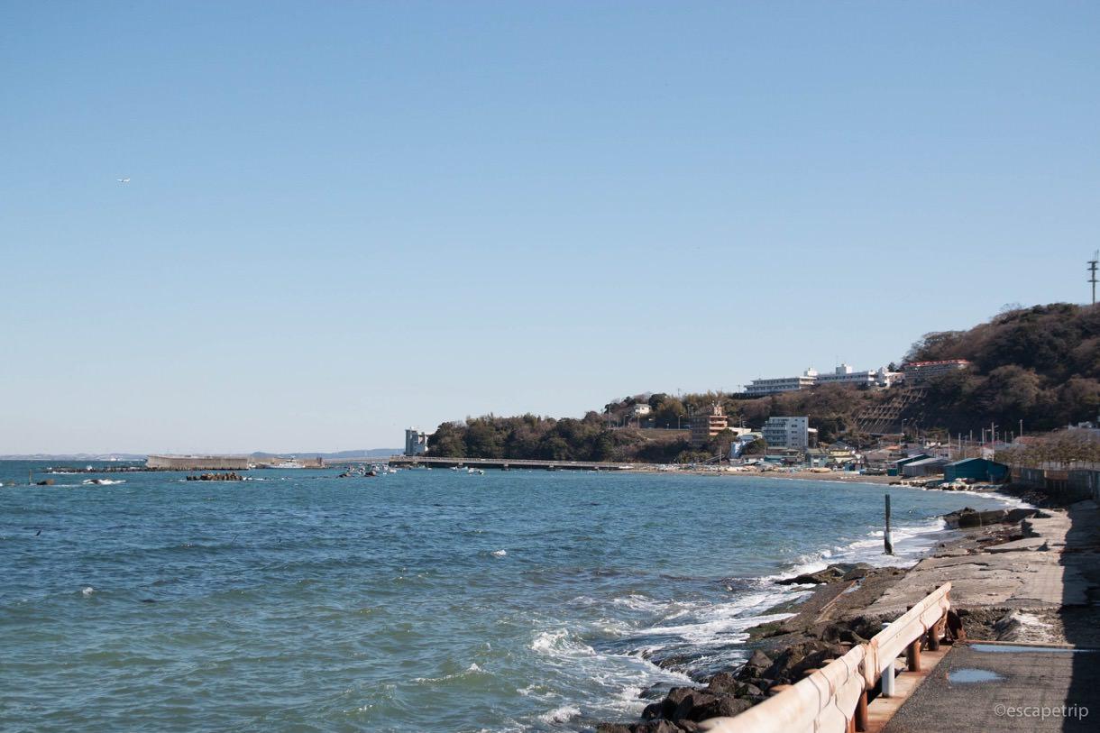三浦半島の海岸の風景