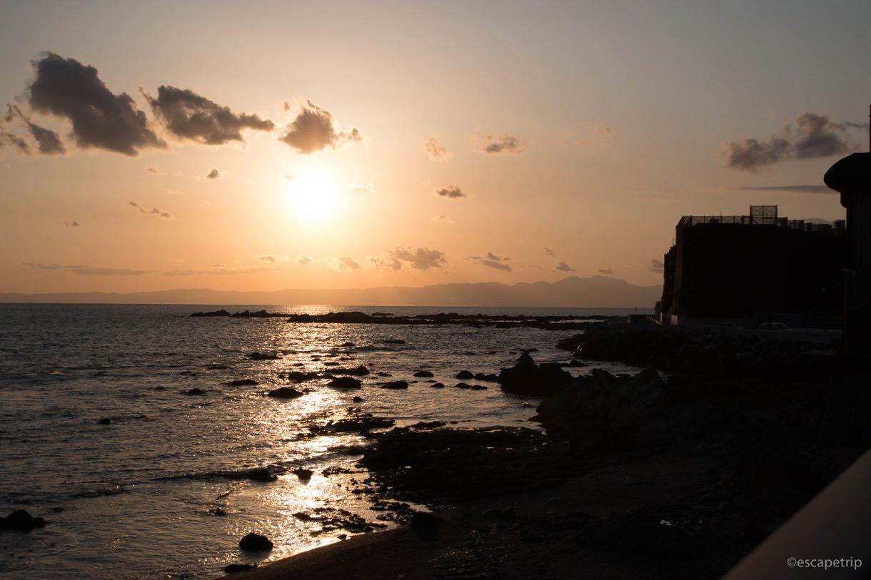 三浦半島の夕暮れ