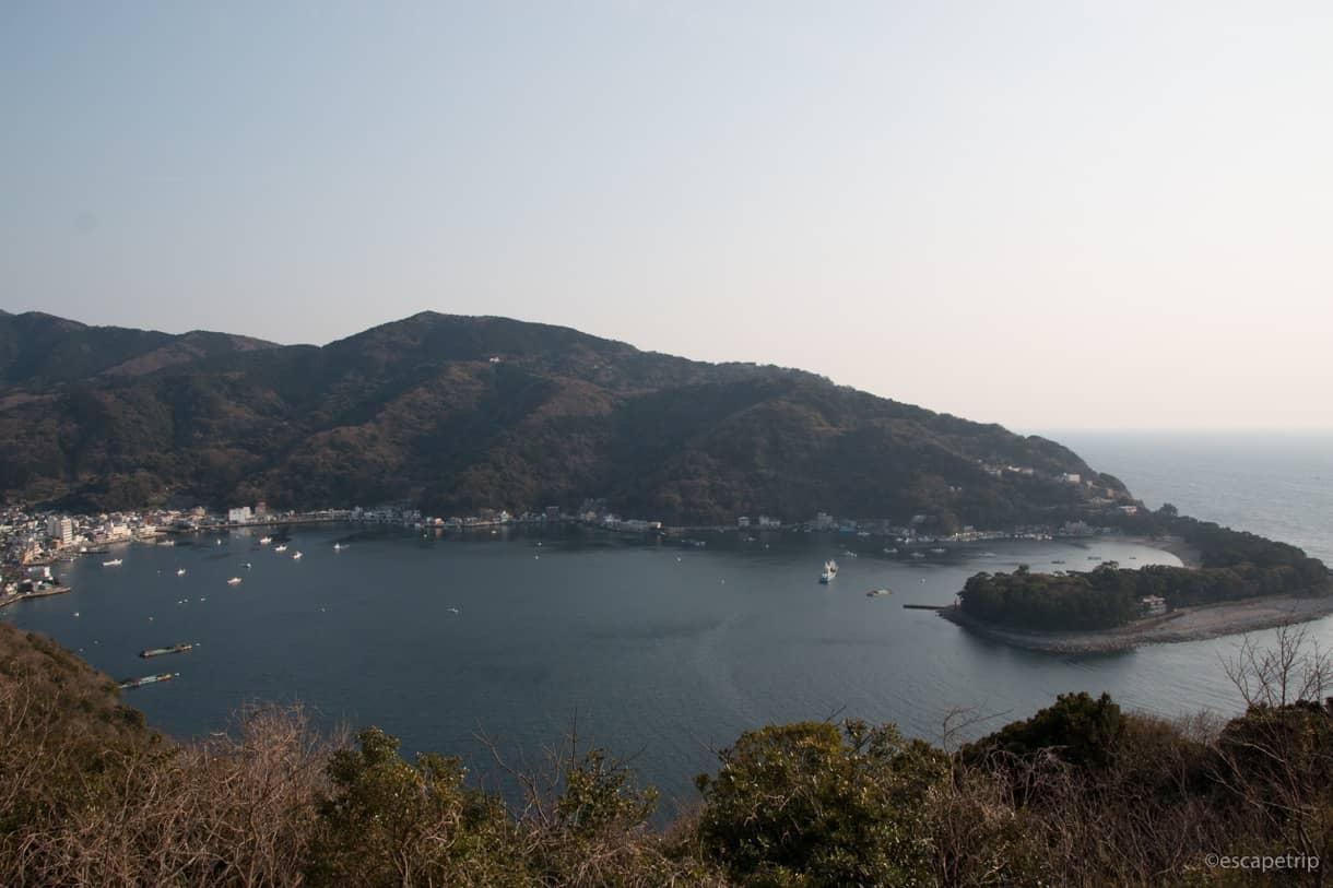 高台から見る駿河湾