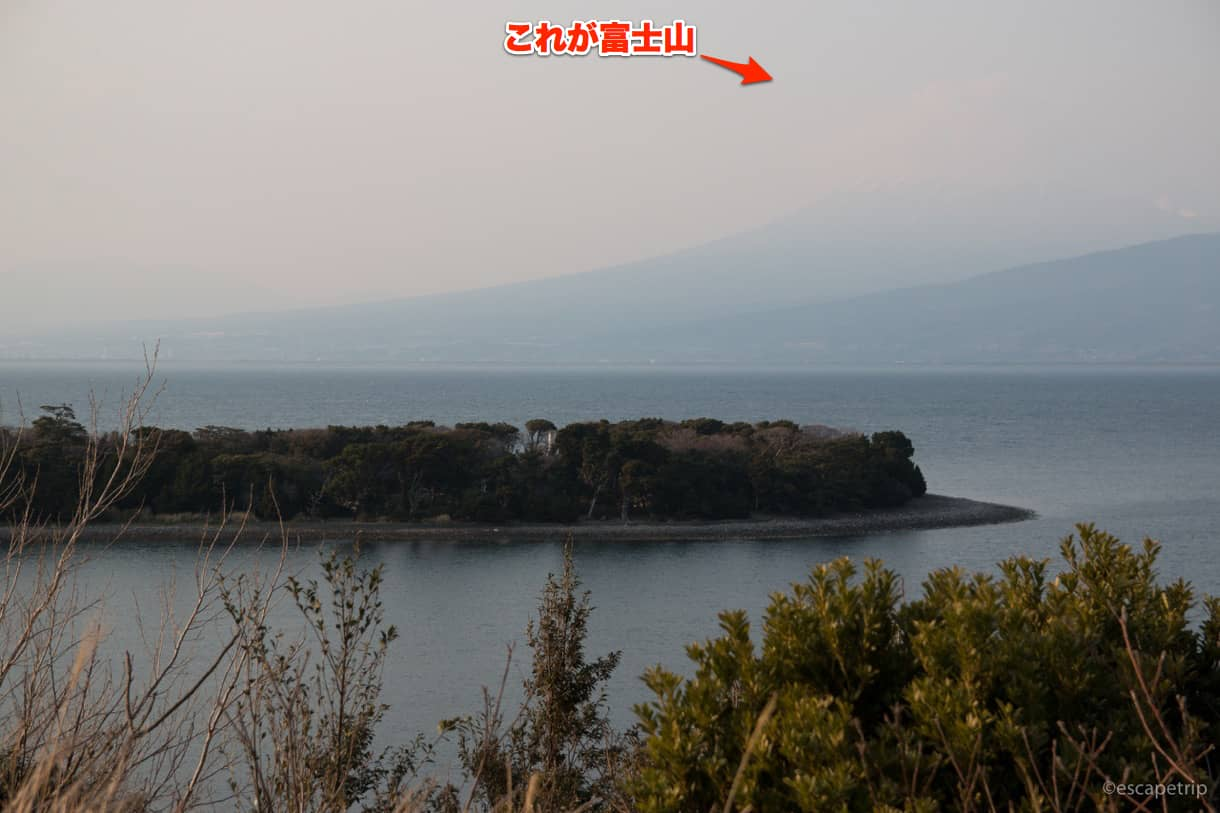 静岡県道17号線から見る富士山