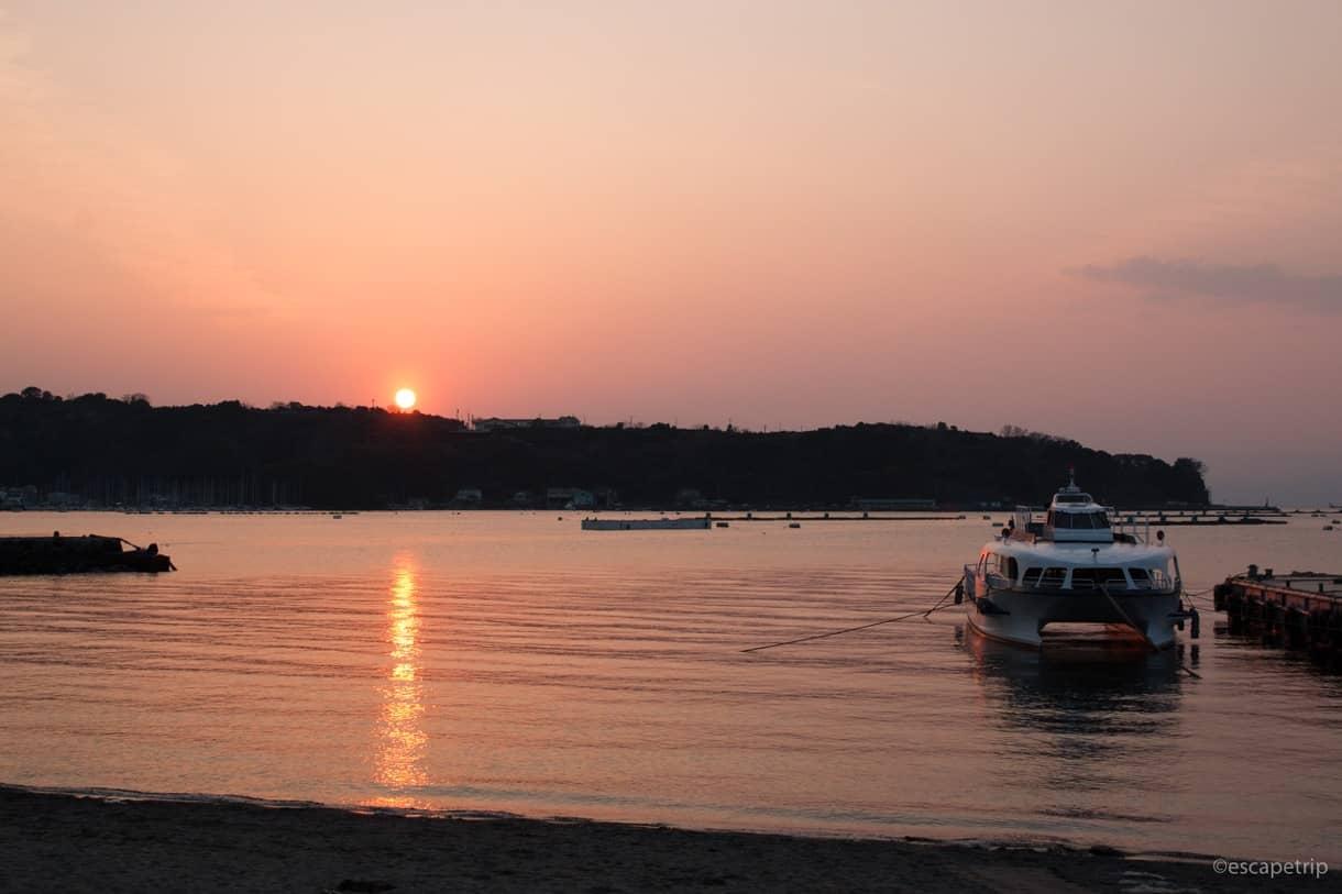 沼津の夕日